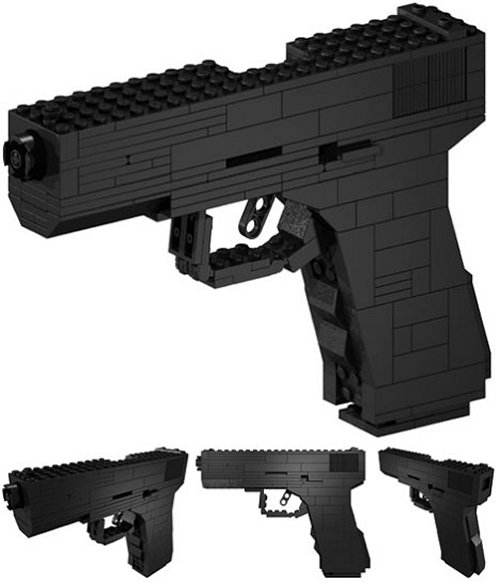 brickgun glock 17 for lego