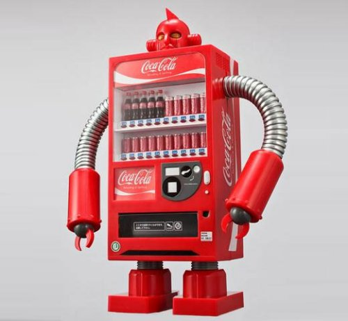 Coca-Cola robots take over japan