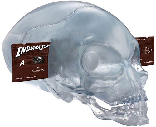 Indiana Jones crystal skull projector