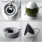 Egg Speaker charger concept