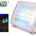 Fake TV scares intruders by flashing colors