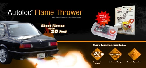 Turn your car exhaust into a flamethrower