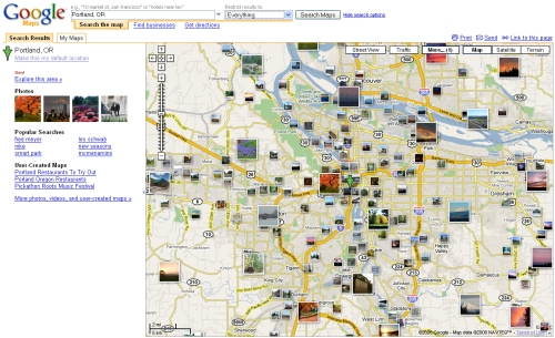 Google Maps has added geotagged photos, Wikipedia entries and real estate listings to the service