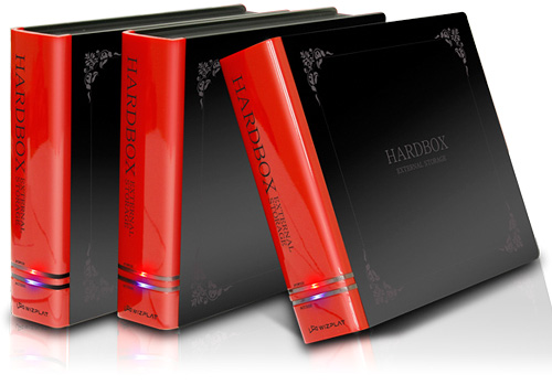 Hardbox external drive case hardcover books