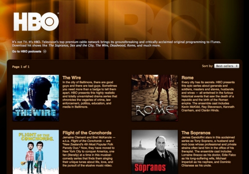 HBO episodes available for download on iTunes