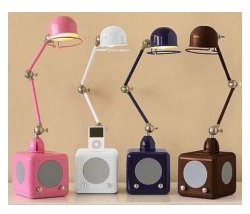 iPod Lamps combine music, with a lamp