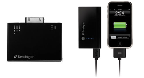 Kensington iPhone and iPod battery pack and charger extends the life of your iPhone or iPod