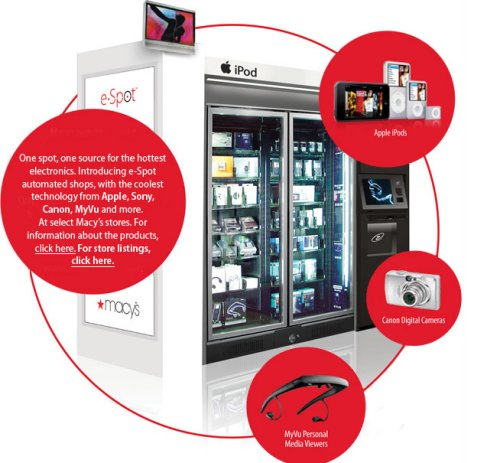 iPod vending machines to hit Macy's