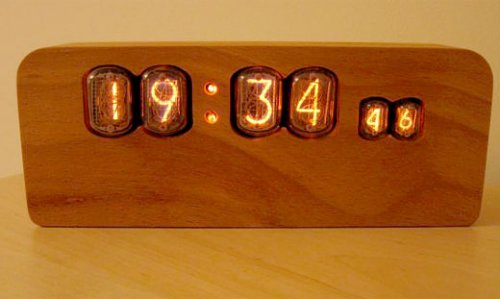 Wooden nixie clock is totally tubular…dude