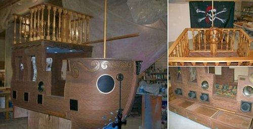 Pirate Ship Bed for rich brats