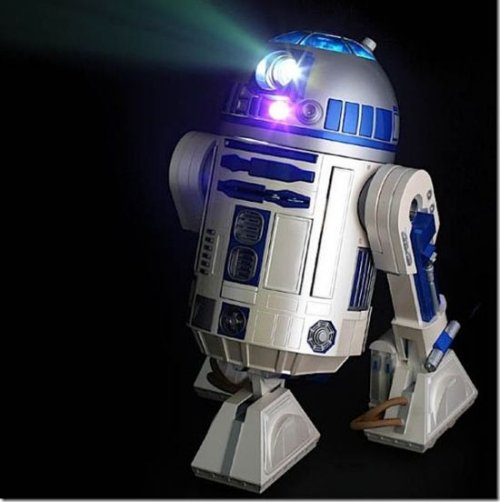 R2-D2 projector in action