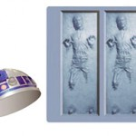 R2D2 ice bucket with Han in Carbonite ice cubes
