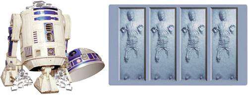 R2D2 ice bucket with Han in Carbonite ice