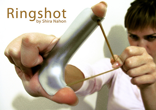 Ringshot turns your hand into a Slingshot