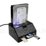 SATA HDD dock gets updated with USB ports, card reader