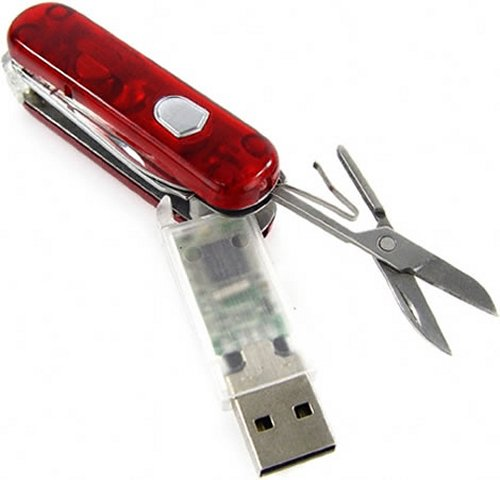 Swiss Army Knife upgraded with 8GB