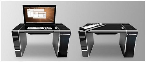 The Sync luxury integrated PC desk