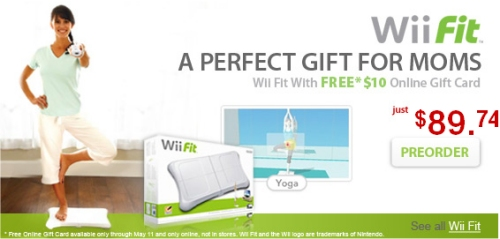 Wii Fit promoted as gift for Mothers Day