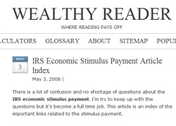 Stimulus payment questions answered on Wealthy Reader
