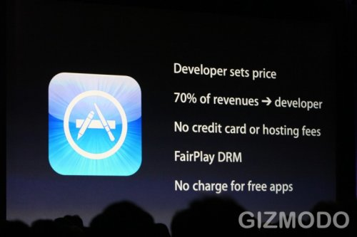 iPhone app store in July, tons of apps