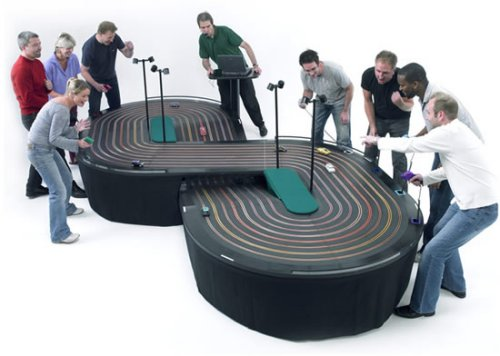 8-lane Salextric slot-car racing track