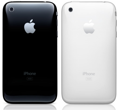 Apple iPhone 3G in black or white Steve Jobs and Apple officially announced
