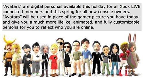 "Xbox 360's ""avatars"" aka Microsoft Miis"