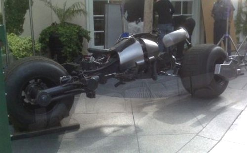 Batpod photographed: The Dark Knight's bike