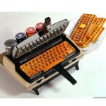 Waffle keyboard maker for a well balanced geek breakfast