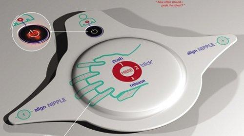CPR Pad: Align nipples & push