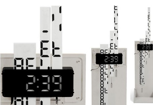 Digimech clock has gear driven display