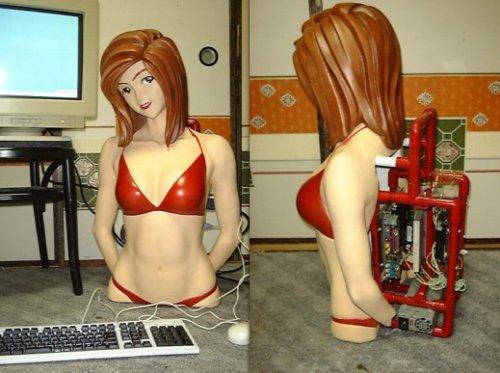 Anime girl PC casemod is the work of nerd desperation