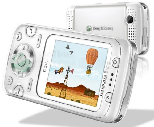 Sony Ericsson F305, all about the games