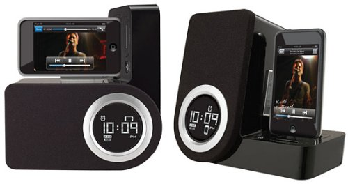 iPhone or iPod touch rotating alarm clock