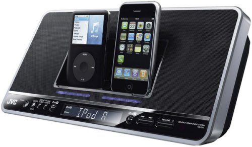 JVC NX-PN7 dual iPod docking station clock radio