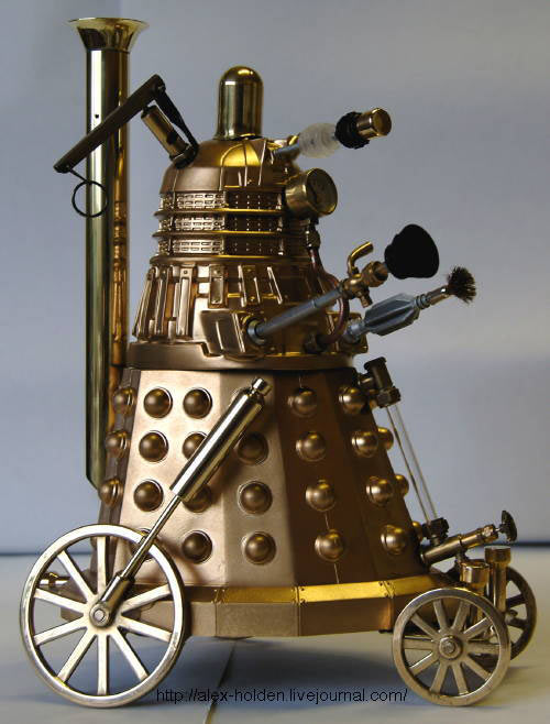 Steampunk Dalek has wheels, can't climb stairs