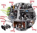 Lego Death Star featuring classic scenes from A New Hope