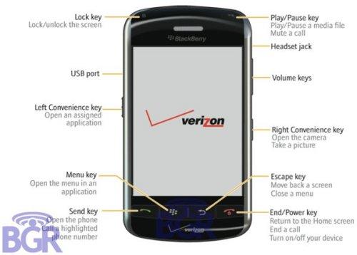 BlackBerry Thunder touchscreen live shot