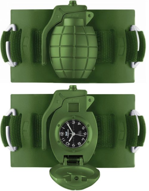 Wrist grenade watch is the bomb!