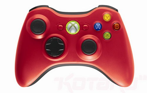 Red &#038; green limited edition Xbox 360 controllers
