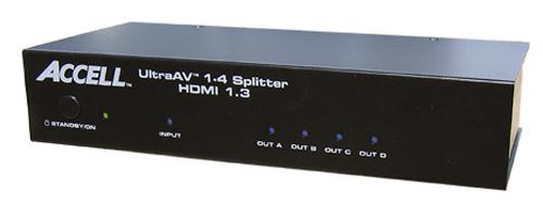 Accell UltraAV 1×4 HDMI 1.3 Splitter