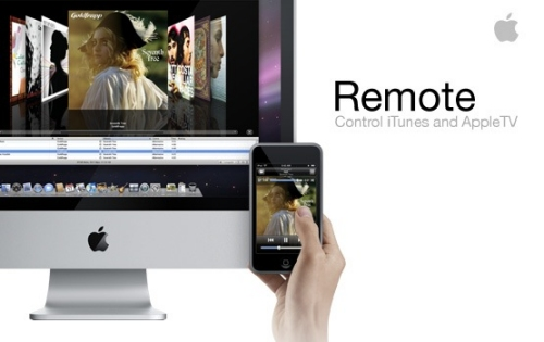 Apple Remote controls iTunes and Apple TV