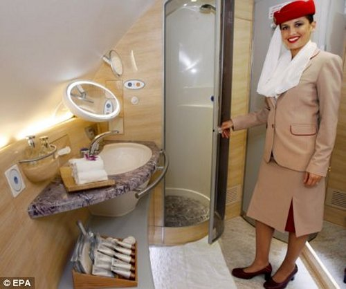 Emirates Airline announces in-flight showers