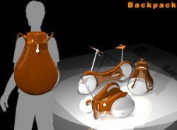 The folding back pack bike