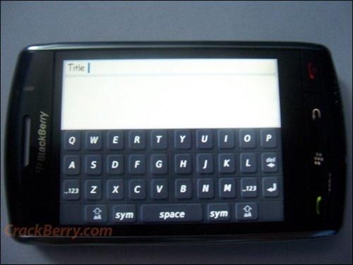 BlackBerry Thunder: First live pics