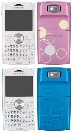 Samsung BlackJack II in pink and blue