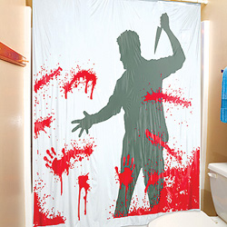 Serial Killer shower curtain will freak out your guests