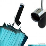 Bluetooth Umbrella concept with touchscreen & radio