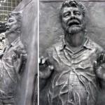 George Lucas frozen in carbonite