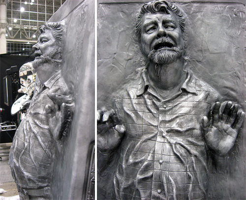 George Lucas frozen in carbonite